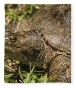 Pointed Nose Florida Softshell Turtle - Apalone Ferox Fleece Blanket