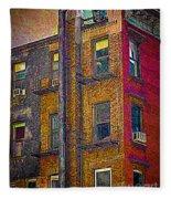 Pointillism In Steel And Brick Fleece Blanket