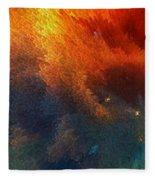 Points Of Light Abstract Art By Sharon Cummings Fleece Blanket