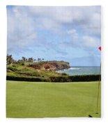 Poipu Bay #16 Fleece Blanket