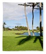Poipu Bay #18 Fleece Blanket