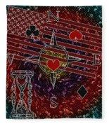 Poker Addiction Digital Painting Fleece Blanket
