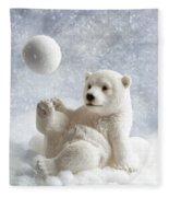 Polar Bear Decoration Fleece Blanket