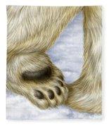 Polar Bear Paw Fleece Blanket