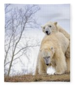 Polar Bear Spring Fling Fleece Blanket