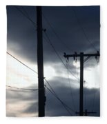 Poles And Sunsets Fleece Blanket
