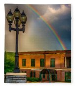 Police At The End Of The Rainbow Fleece Blanket