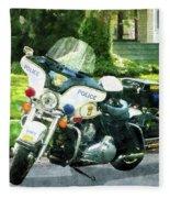 Police - Police Motorcycle Fleece Blanket