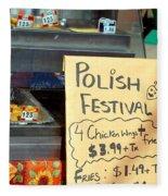 Polish Food Street Stand Fleece Blanket