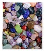 Polished Gemstones Fleece Blanket