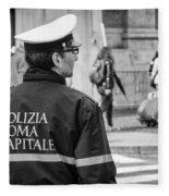 Polizia Roma Capitale Fleece Blanket