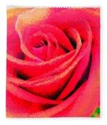 Polka Dot Beautiful Rose Fleece Blanket