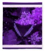 Polka Dot Butterfly Purple Fleece Blanket