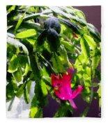 Polka Dot Easter Cactus Fleece Blanket