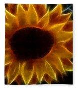 Polka Dot Glowing Sunflower Fleece Blanket