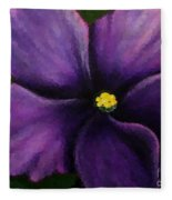 Polka Dot Purple African Violet Fleece Blanket