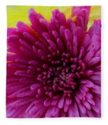 Polka Dot Purple Mum Fleece Blanket