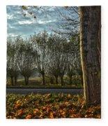 Pollard Willows In Rotterdam Fleece Blanket