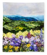 Pollinators Ravine Fleece Blanket