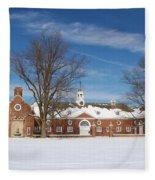 Polo Stables At Caumsett Fleece Blanket