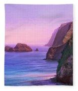 Pololu Valley Sunset Fleece Blanket