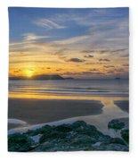 Polzeath Sunset 3 Fleece Blanket