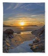 Polzeath Sunset Fleece Blanket