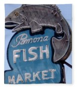 Pomona Fish Market Sign Fleece Blanket