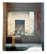 Pompeii Courtyard Fleece Blanket