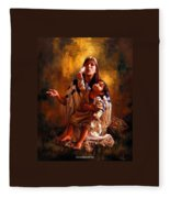 Pompeys Feather Fleece Blanket
