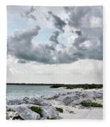 Ponce Inlet Mood Fleece Blanket