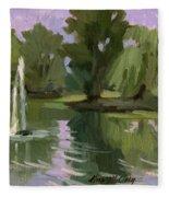 Pond At Fort Dent Tukwilla Fleece Blanket