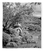 Pond At Heian Shrine - Kyoto Fleece Blanket