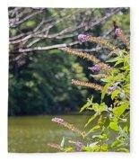 Pond At Norfolk Botanical Garden 12 Fleece Blanket
