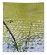 Pond At Norfolk Botanical Garden 8 Fleece Blanket