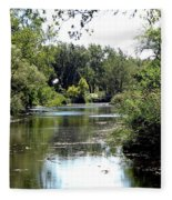 Pond At Tifft Nature Preserve Buffalo New York  Fleece Blanket