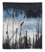 Pond At Twilight Fleece Blanket