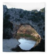 Pond Dark Ardeche France Fleece Blanket