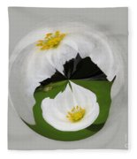 Pond Flower Orb Fleece Blanket