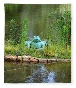 Pond Frog Fleece Blanket