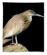 Pond Heron Fleece Blanket