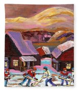 Pond Hockey 1 Fleece Blanket