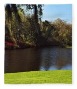Pond In A Garden, Middleton Place Fleece Blanket
