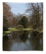 Pond In The Park Fleece Blanket