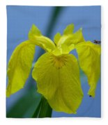 Pond Iris Fleece Blanket