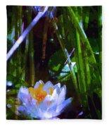 Pond Lily 28 Fleece Blanket