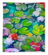 Pond Lily 5 Fleece Blanket