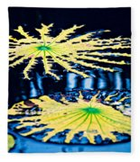 Pond Lily Pad Abstract Fleece Blanket