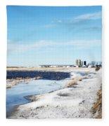 Pond Or Field Fleece Blanket