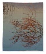 Pond Weed Reflections Fleece Blanket